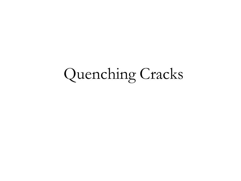 Quenching Cracks