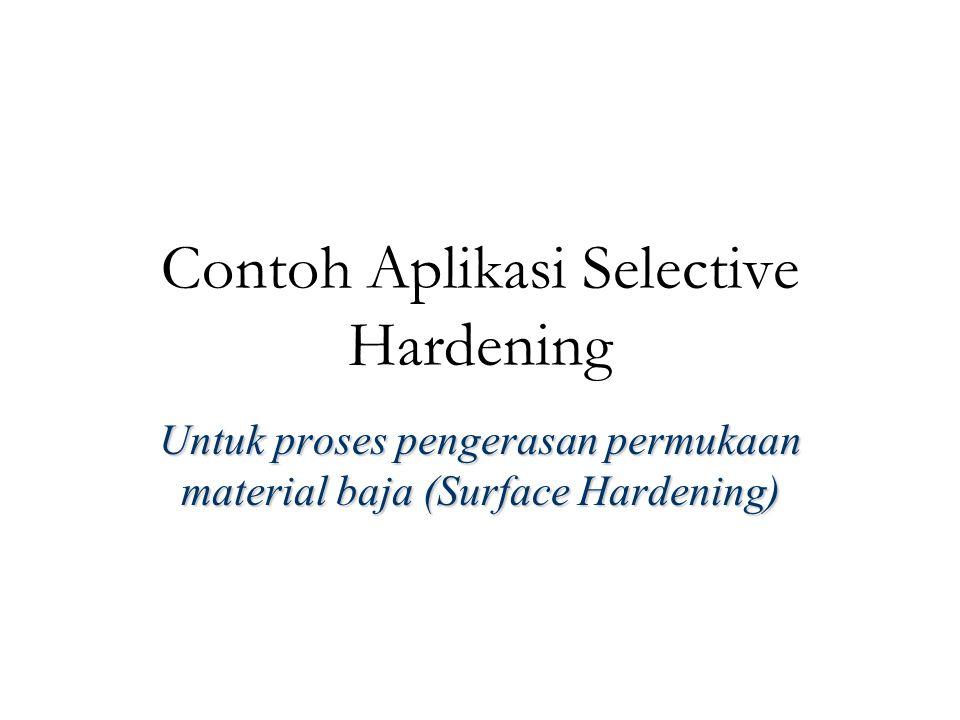 Contoh Aplikasi Selective Hardening Untuk proses pengerasan permukaan material baja (Surface Hardening)