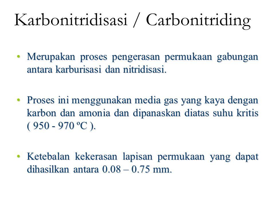 Selective Hardening Baja karbon yang memiliki kandungan karbon 0.4% atau baja paduan dengan kandungan karbon rendah atau pada stainless steels dengan kandungan karbon 0.1% dapat dilakukan pengerasan dengan pemanasan dan pendinganan cepat pada area tertentu.Baja karbon yang memiliki kandungan karbon 0.4% atau baja paduan dengan kandungan karbon rendah atau pada stainless steels dengan kandungan karbon 0.1% dapat dilakukan pengerasan dengan pemanasan dan pendinganan cepat pada area tertentu.