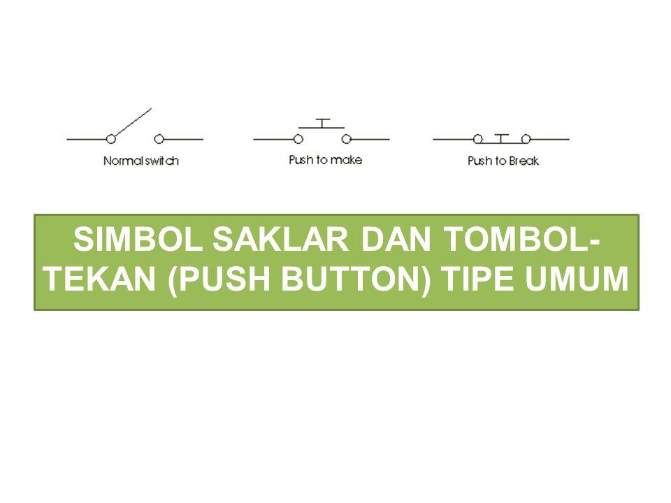SIMBOL SAKLAR DAN TOMBOL- TEKAN (PUSH BUTTON) TIPE UMUM