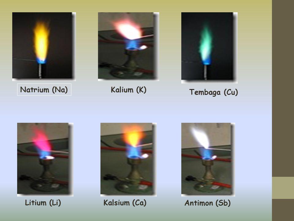 Natrium (Na) Kalium (K) Litium (Li)Kalsium (Ca) Tembaga (Cu) Antimon (Sb)