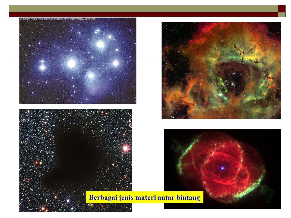 Berbagai jenis materi antar bintang
