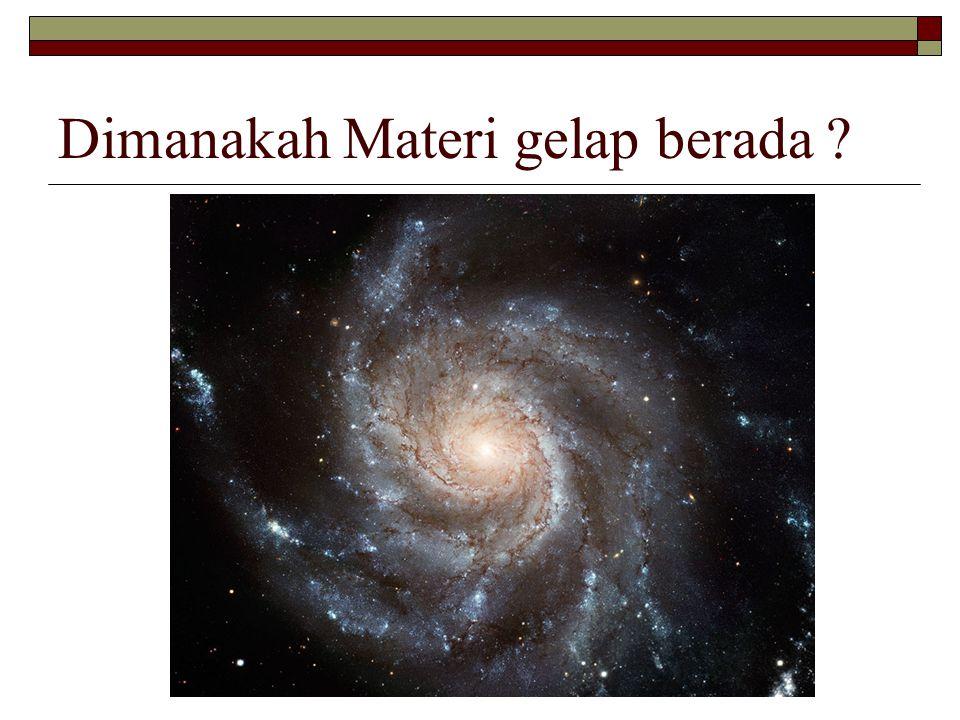 Dimanakah Materi gelap berada ?