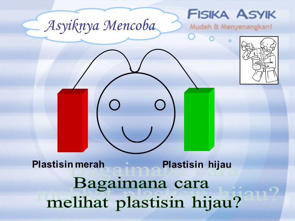 Plastisin hijau Plastisin merah