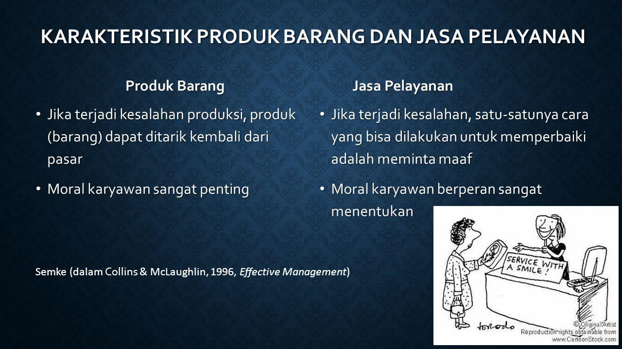 Produk Barang Jasa Pelayanan Jika terjadi kesalahan produksi, produk (barang) dapat ditarik kembali dari pasar Jika terjadi kesalahan produksi, produk