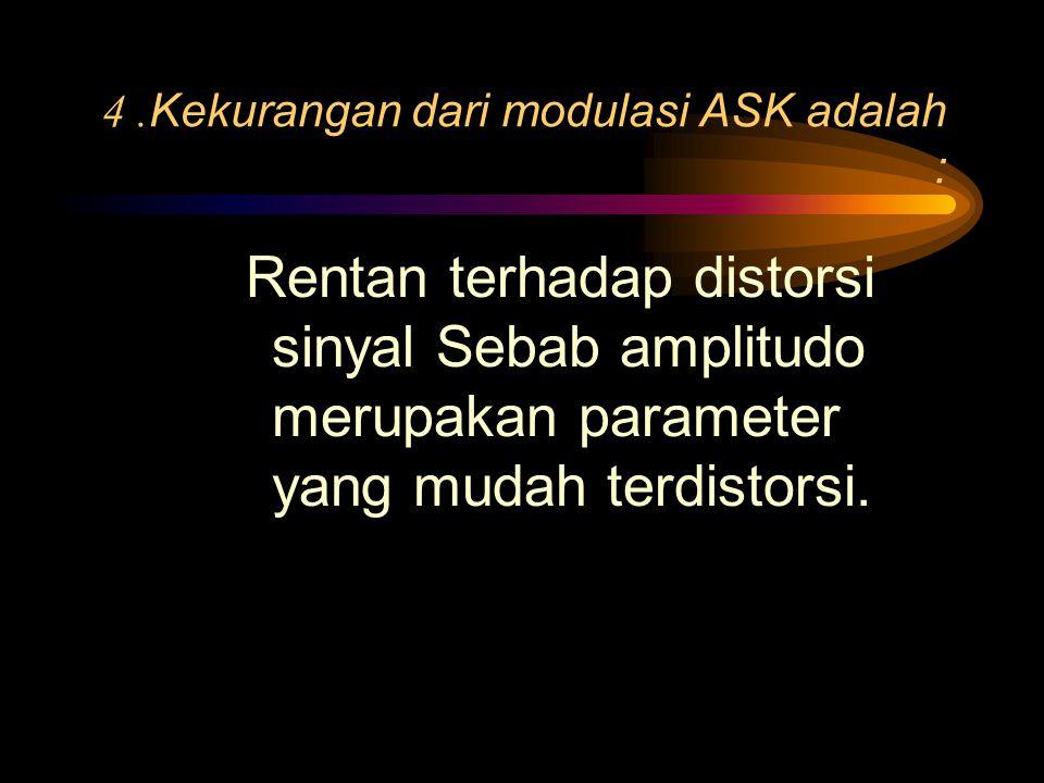 3.Untuk demodulasi ASK ada dua cara, yaitu koheren dan nonkoheren.