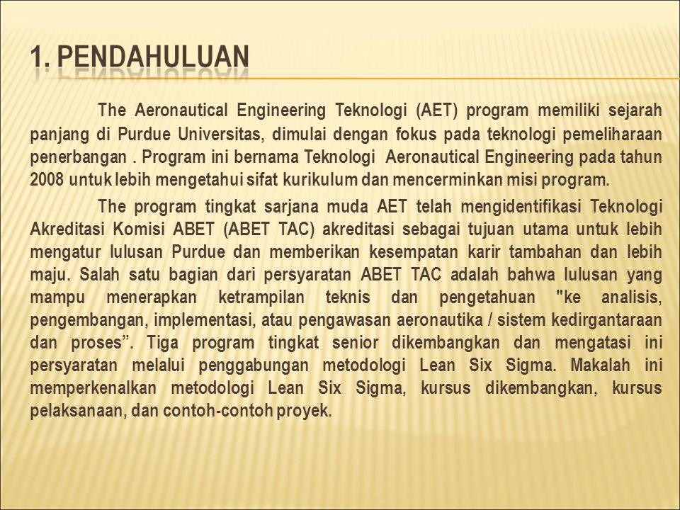 The Aeronautical Engineering Teknologi (AET) program memiliki sejarah panjang di Purdue Universitas, dimulai dengan fokus pada teknologi pemeliharaan penerbangan.