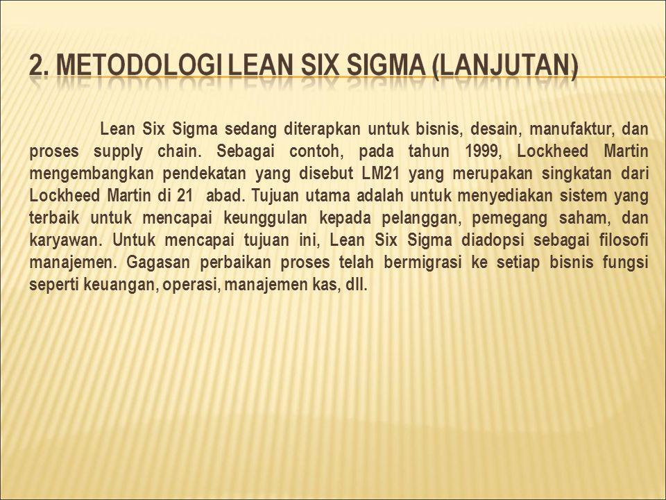 Lean Six Sigma sedang diterapkan untuk bisnis, desain, manufaktur, dan proses supply chain.