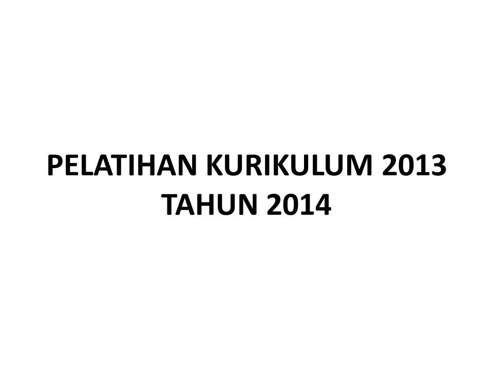 PELATIHAN KURIKULUM 2013 TAHUN 2014
