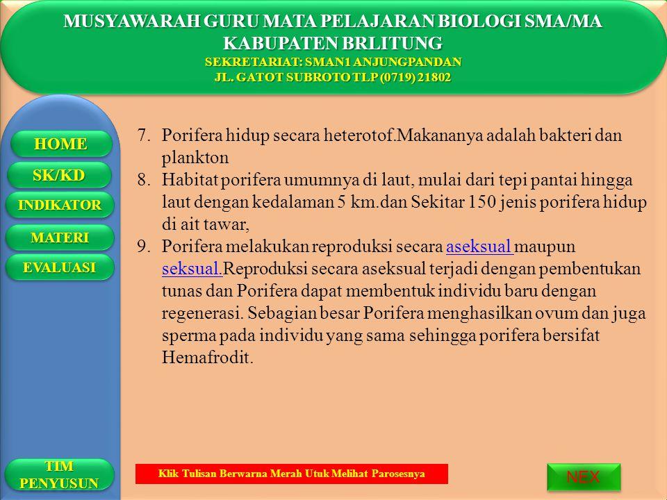 MUSYAWARAH GURU MATA PELAJARAN BIOLOGI SMA/MA KABUPATEN BRLITUNG SEKRETARIAT: SMAN1 ANJUNGPANDAN JL.