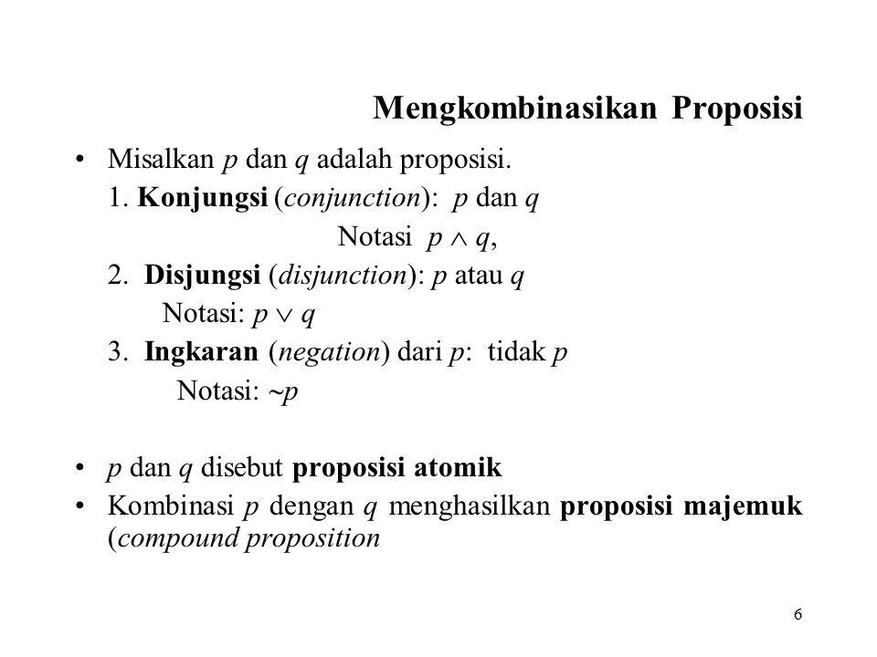 17 Hukum-hukum Logika