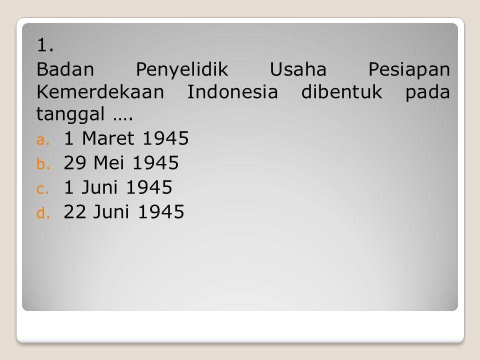 ULANGAN HARIAN ULANGAN HARIAN BIDANG STUDY: PKn – Perumusan Pancasila KELAS: VI SEMESTER: I WAKTU: 45 menit HARI/TANGGAL: Rabu, 1 Agustus 2012 Catatan