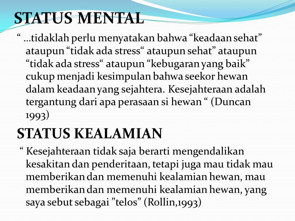 """STATUS MENTAL """" …tidaklah perlu menyatakan bahwa """"keadaan sehat"""" ataupun """"tidak ada stress"""" ataupun sehat"""" ataupun """"tidak ada stress"""" ataupun """"kebugar"""
