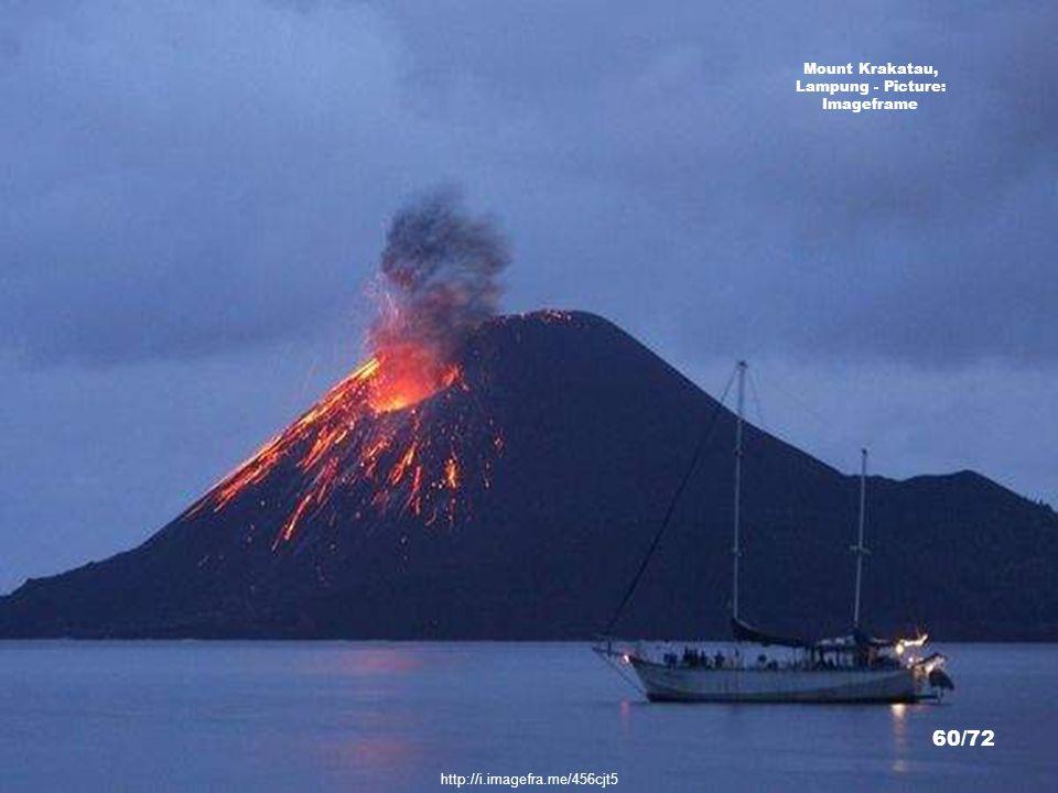 http://commons.wikimedia.org/wiki/File:Krakatau_18may92.jpg Mount Krakatau, Lampung - Picture: Hullie 59/72
