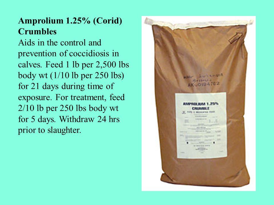 COXISTOP : Tiap 100 gram R/ Amprolium 20 g Furaltadone Tartrat 20 g Vit K 100 g EMBACOX : Tiap 1 Kg R/ Sulfaquinoxalin 82,5 g Vit. A 2.400.000 IU Vit.