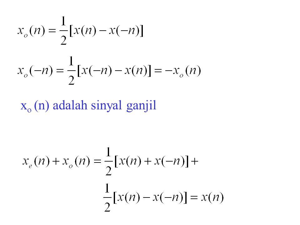 x o (n) adalah sinyal ganjil