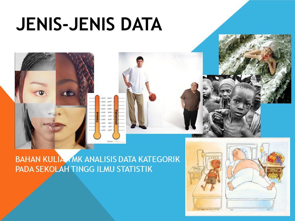 JENIS-JENIS DATA 1 BAHAN KULIAH MK ANALISIS DATA KATEGORIK PADA SEKOLAH TINGG ILMU STATISTIK