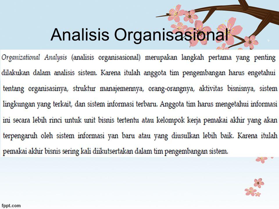 Analisis Organisasional