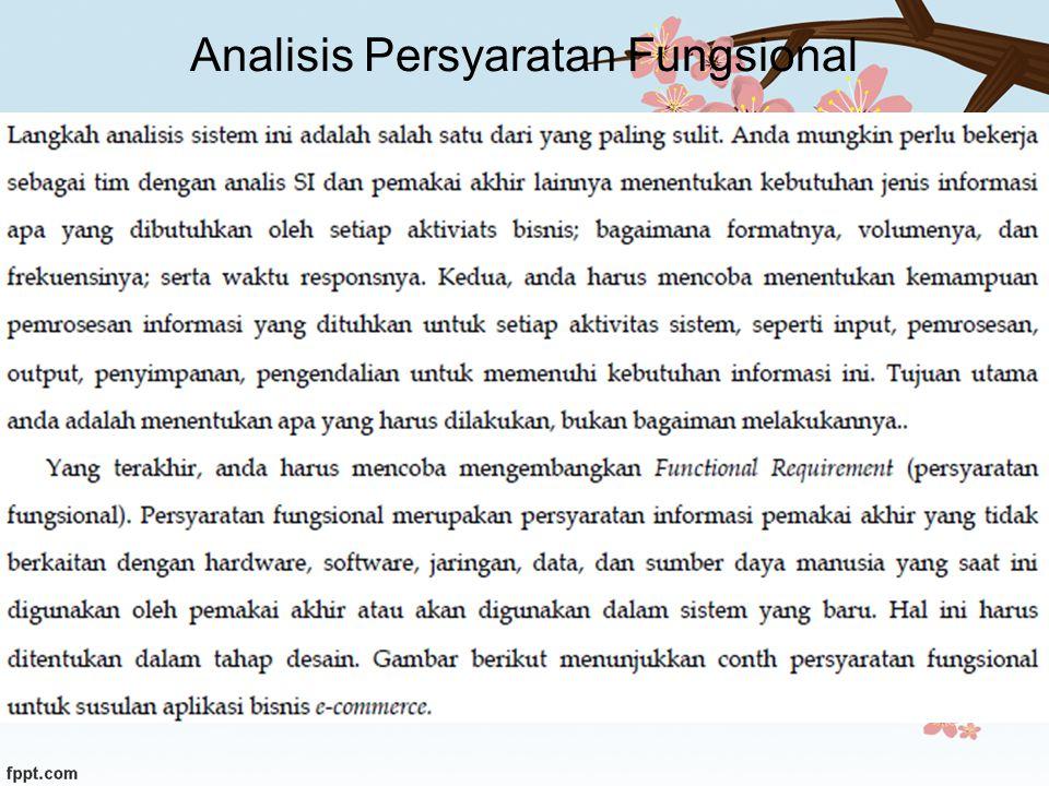 Analisis Persyaratan Fungsional