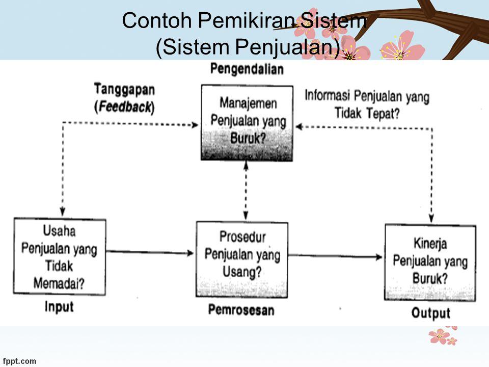 Contoh Pemikiran Sistem (Sistem Penjualan)