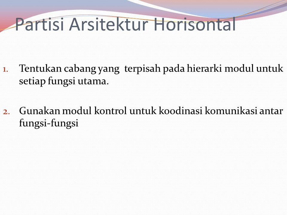 Partisi Arsitektur Horisontal 1.