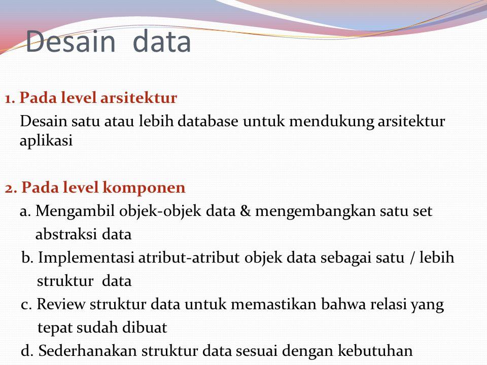 Desain data 1.
