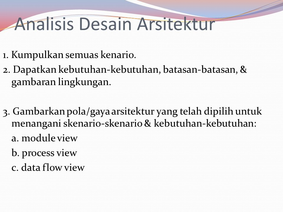 Analisis Desain Arsitektur 4.