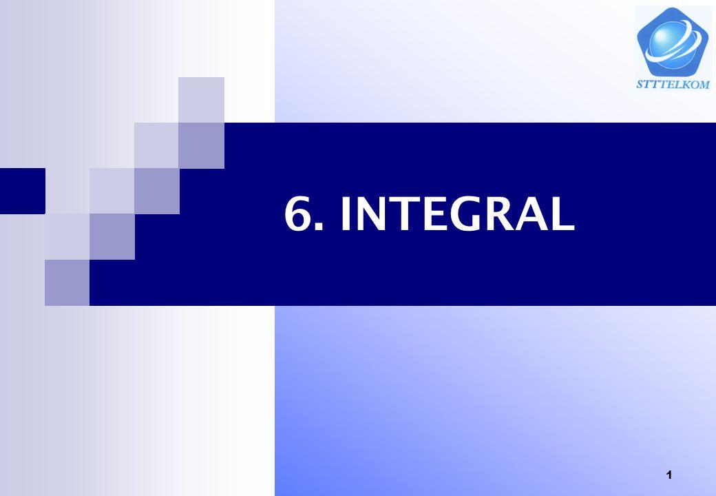 11 Ctt: Jika fungsi y=f(x) positif pada selang [a,b] maka integral tentu diatas menyatakan luas daerah yang terletak dibawah grafik y=f(x) dan diatas sumbu x antara garis x = a dan x = b Sifat integral tentu 1.