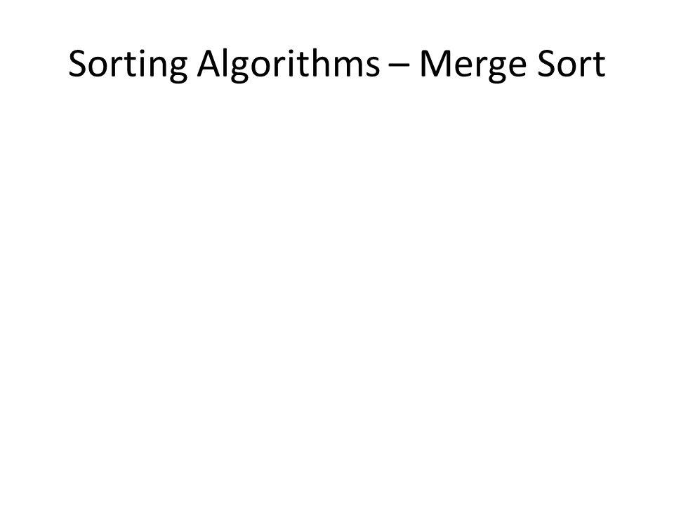 Sorting Algorithms – Merge Sort
