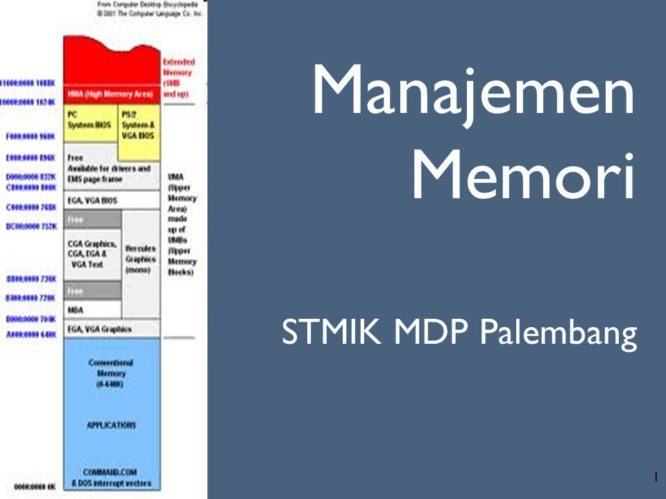 1 Manajemen Memori STMIK MDP Palembang