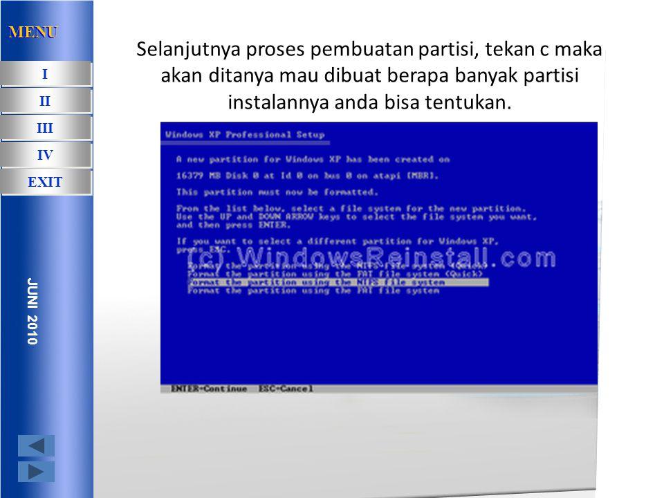 Sekarang tinggal anda pilih mau memulai proses instalasi dengan format apa ntfs atau fat32.