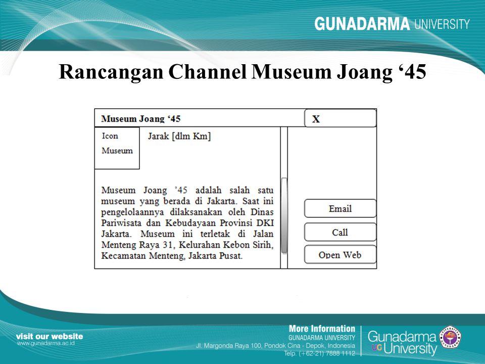 Rancangan Channel Museum Joang '45