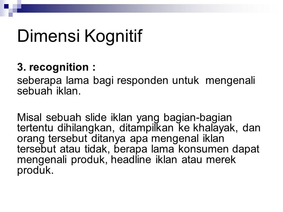 Dimensi Kognitif 4.