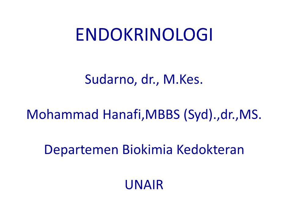 ENDOKRINOLOGI Sudarno, dr., M.Kes.Mohammad Hanafi,MBBS (Syd).,dr.,MS.