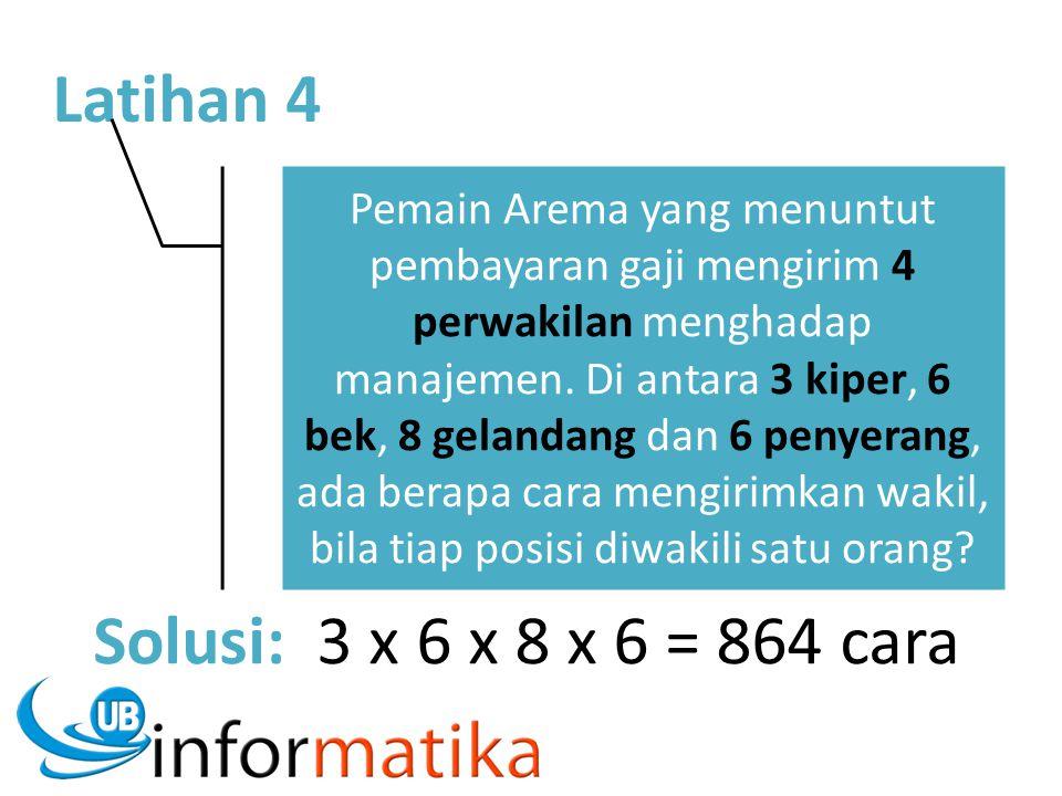 Latihan 4 Pemain Arema yang menuntut pembayaran gaji mengirim 4 perwakilan menghadap manajemen. Di antara 3 kiper, 6 bek, 8 gelandang dan 6 penyerang,