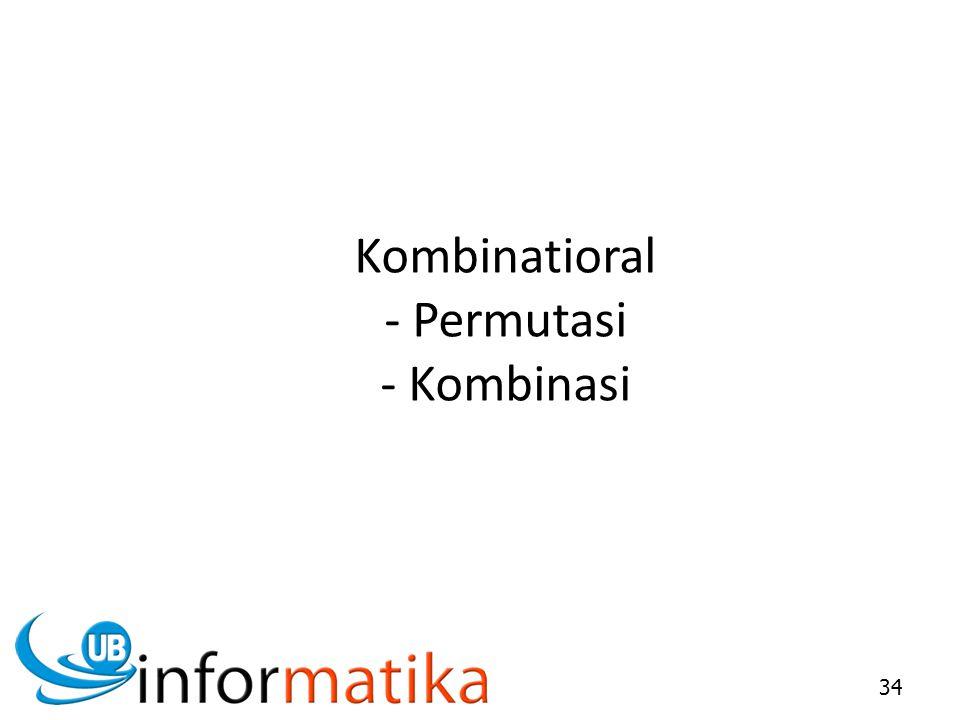 Kombinatioral - Permutasi - Kombinasi 34
