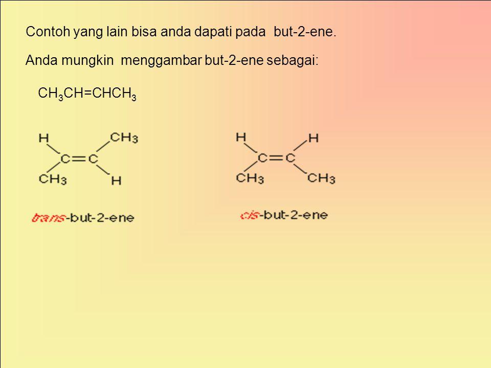 Bagaimana dengan karbon-karbon ikatan rangkap, seperti pada 1,2-dikloroeten? Kedua molekul diatas tidaklah sama. Ikatan rangkap tidak dapat diputar. S