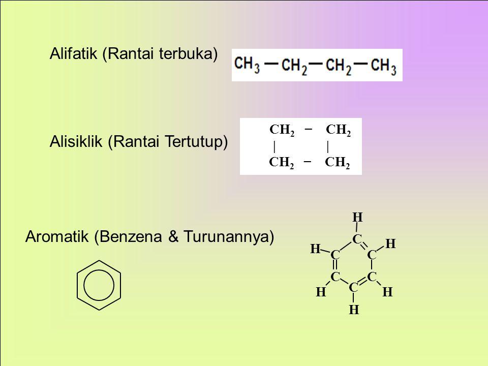 jumlah atomC Rumus Struktur Nama 1 CH 4 Metana 2C 2 H 6 ditulis CH 3  CH 3 Etana 3. C 3 H 8 ditulis C H 3  C H 2  C H 3 Propana