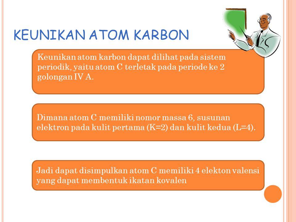 Adanya unsur karbon dan hidrogen dalam senyawa organik, dapat di uji dengan suatu senyawa organik yang akan mengubah karbon (C) menjadi karbondioksida
