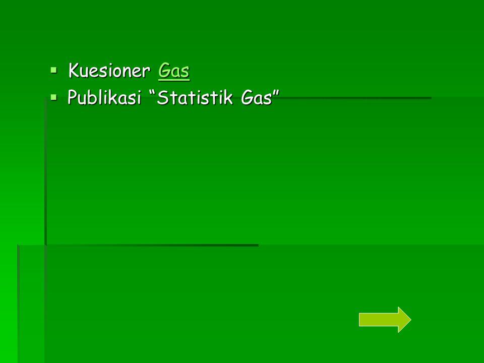 """ Kuesioner Gas Gas  Publikasi """"Statistik Gas"""""""