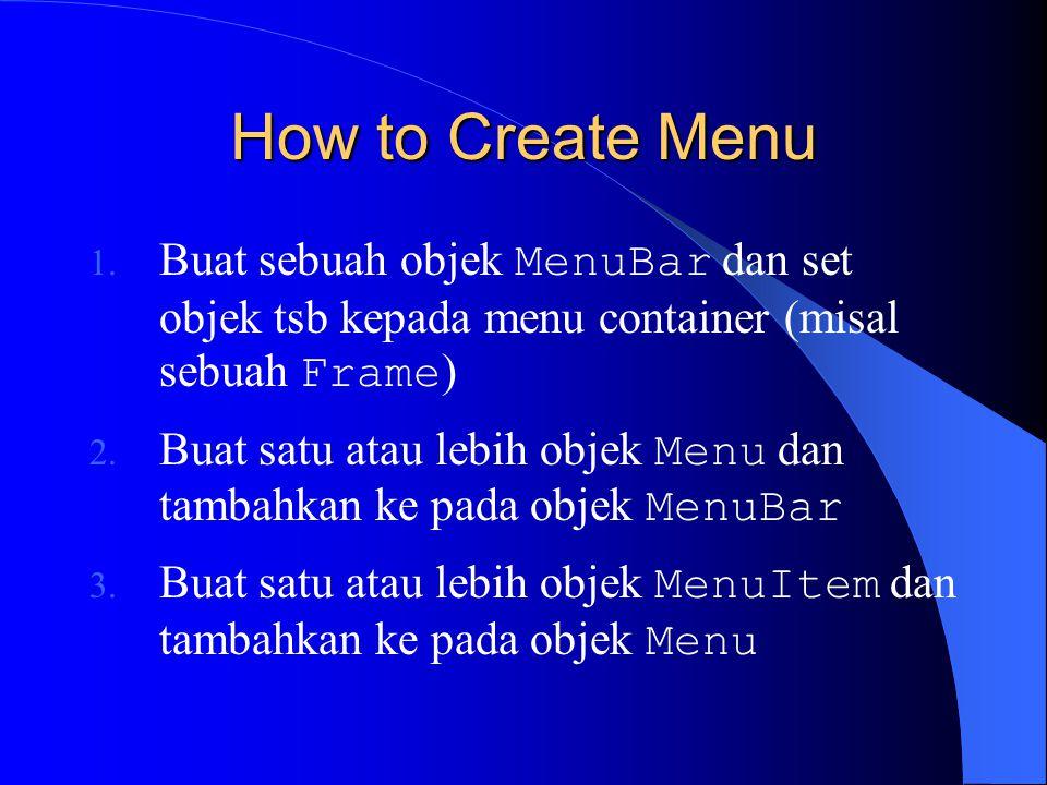 How to Create Menu 1.