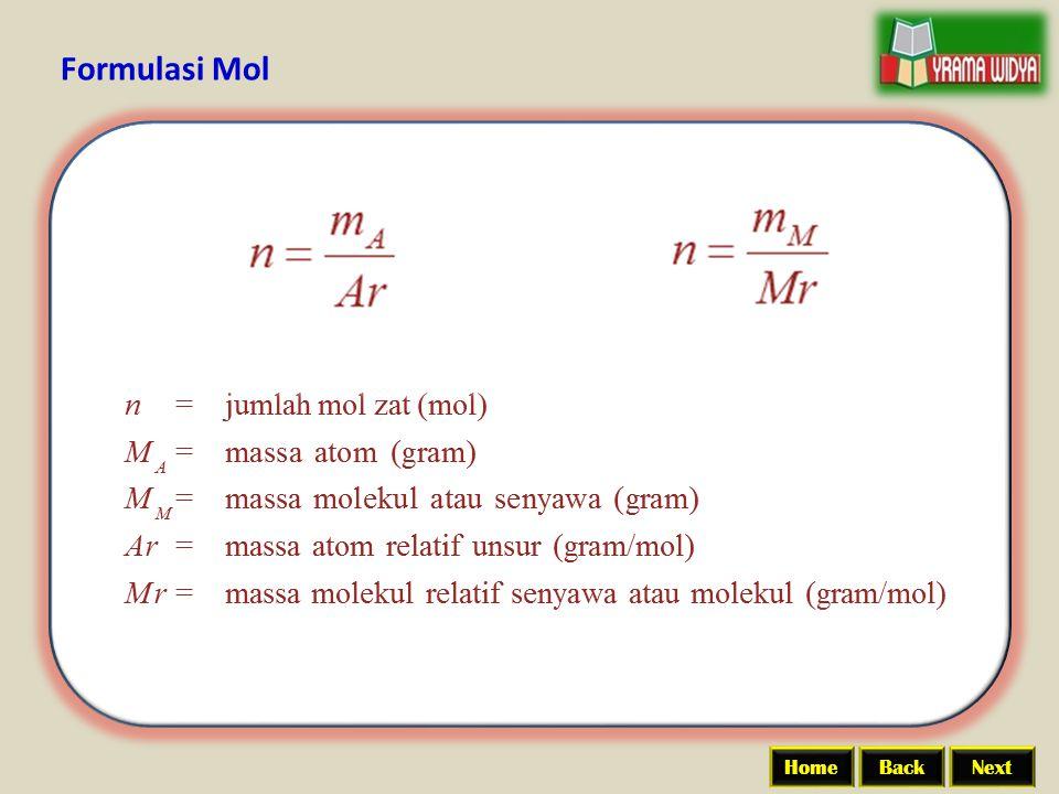 BackNextHome Formulasi Mol