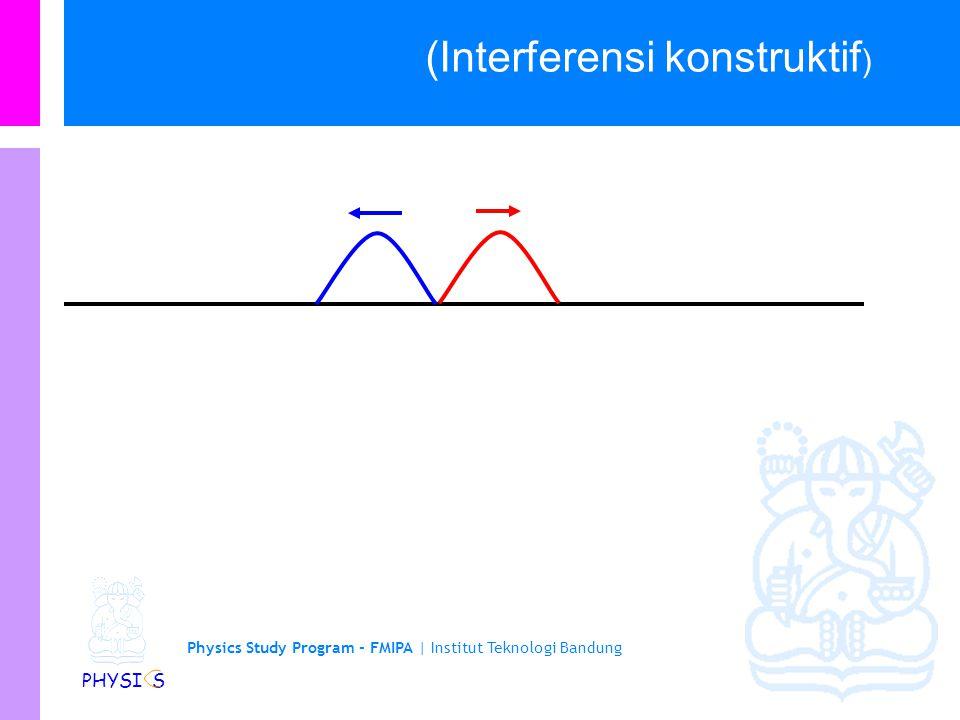 Physics Study Program - FMIPA | Institut Teknologi Bandung PHYSI S (Interferensi konstruktif )