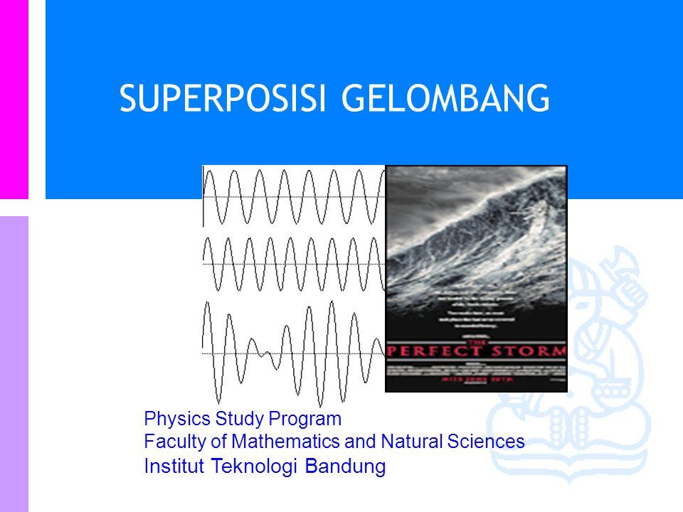 Physics Study Program Faculty of Mathematics and Natural Sciences Institut Teknologi Bandung SUPERPOSISI GELOMBANG