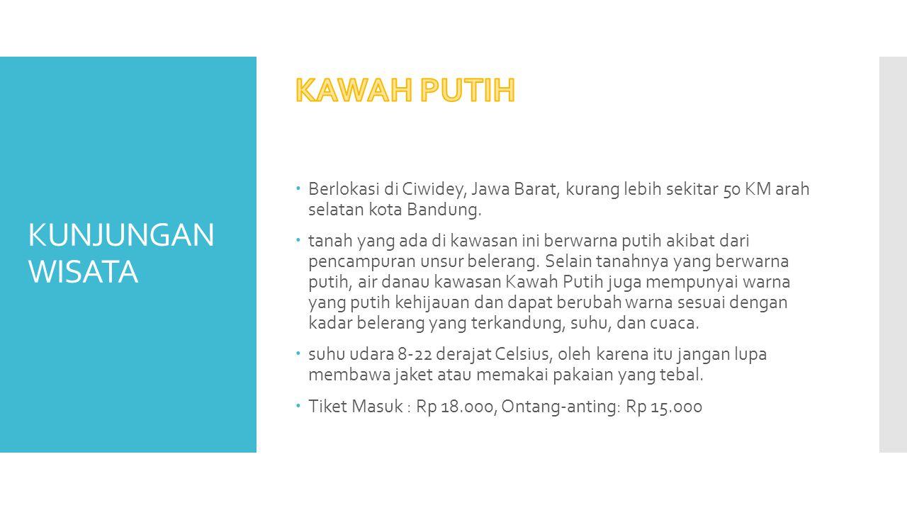 KUNJUNGAN WISATA  Cibaduyut Bandung berada di daerah selatan Bandung kira kira dari pusat kota sekitar 30 menit.
