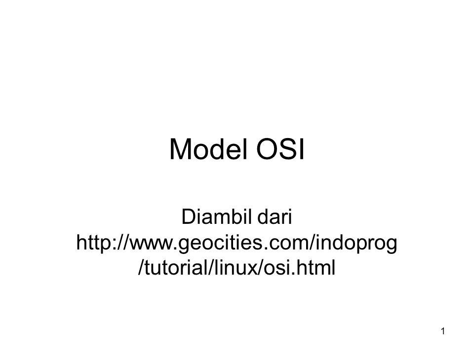 1 Model OSI Diambil dari http://www.geocities.com/indoprog /tutorial/linux/osi.html