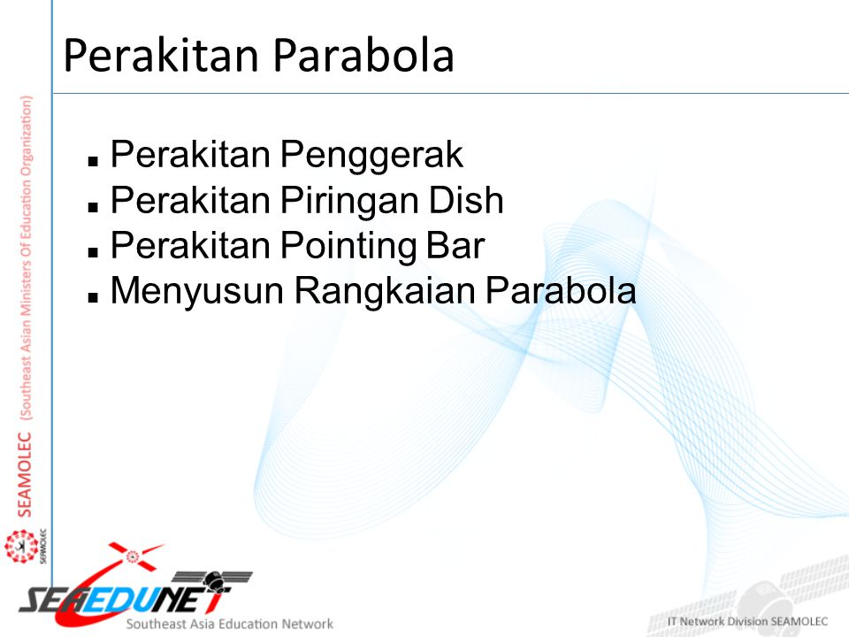 Perakitan Penggerak Perakitan Piringan Dish Perakitan Pointing Bar Menyusun Rangkaian Parabola