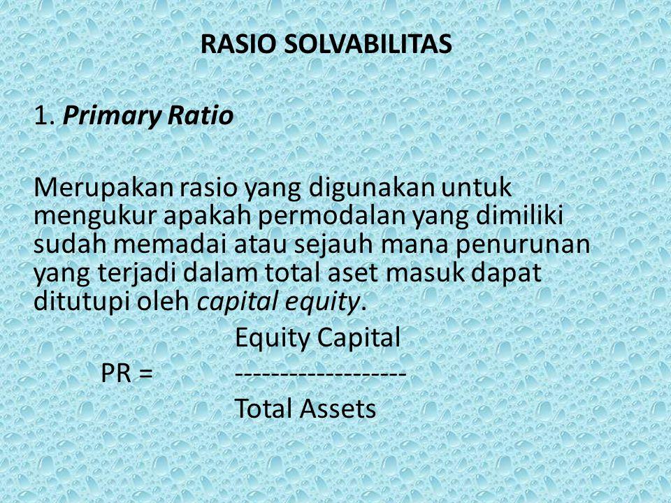 RASIO SOLVABILITAS 1.