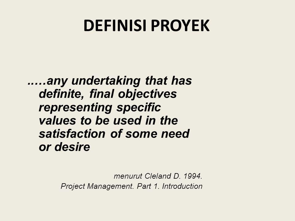 B.Definisi Proyek 1.Apakah definisi Proyek sudah disusun/dinyatakan dengan jelas.