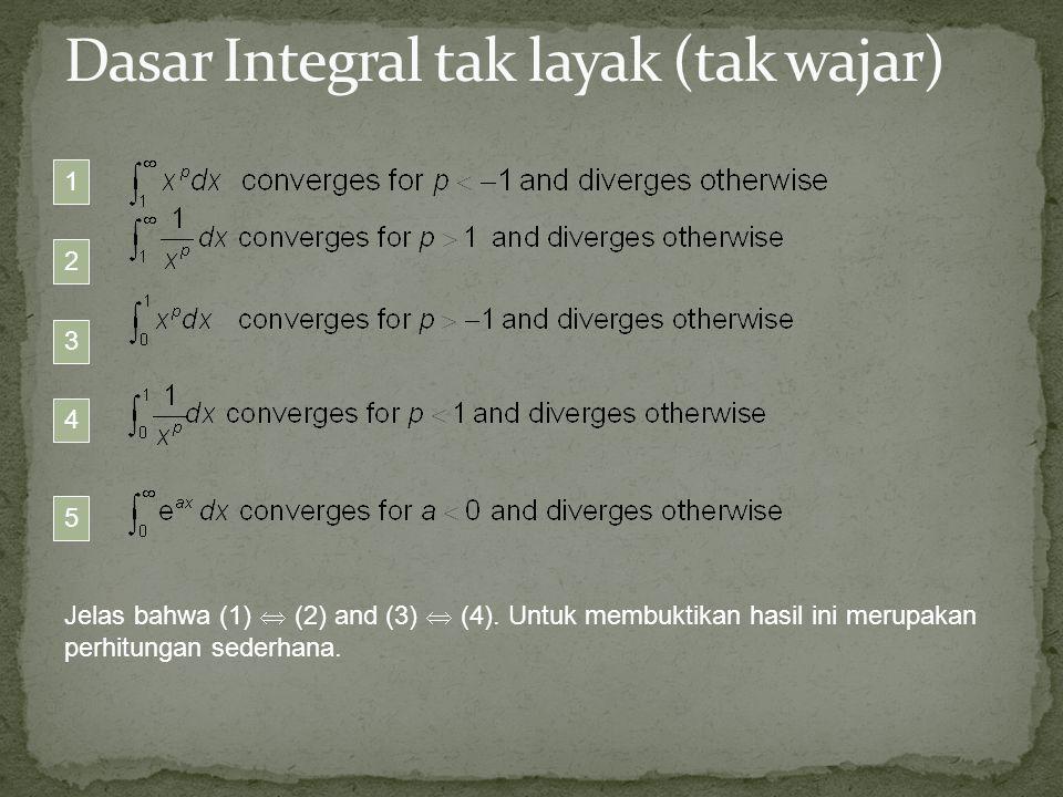 Jelas bahwa (1)  (2) and (3)  (4). Untuk membuktikan hasil ini merupakan perhitungan sederhana. 3 4 1 2 5